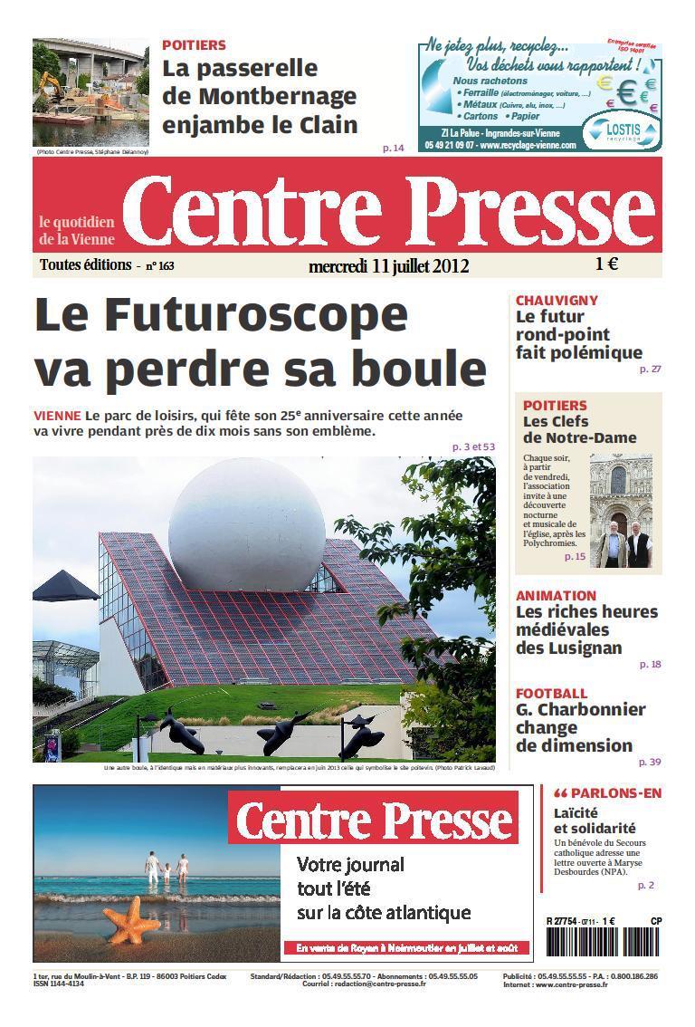 Boule du Futuroscope : démontage, reconstruction, scénographie (2012-2014) 46933310