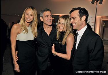 George Clooney at Bryan Lourd's pre-Oscars party on Saturday Bryan_10