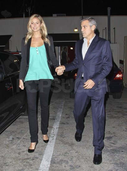 George Clooney on a dinner date in LA Jan2012 Georg152