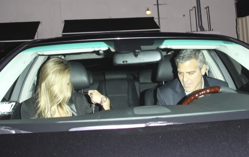 George Clooney on a dinner date in LA Jan2012 Georg154