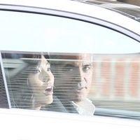 George Clooney shooting a Mercedes-Benz commercial (pics) 2011 Merced11