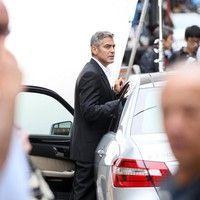 George Clooney shooting a Mercedes-Benz commercial (pics) 2011 Merced14