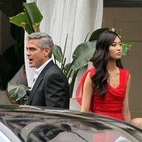 George Clooney shooting a Mercedes-Benz commercial (pics) 2011 Merced16