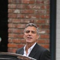 George Clooney shooting a Mercedes-Benz commercial (pics) 2011 Merced17