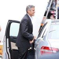 George Clooney shooting a Mercedes-Benz commercial (pics) 2011 Merced18