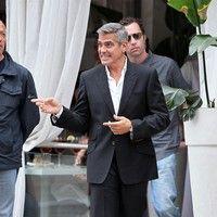 George Clooney shooting a Mercedes-Benz commercial (pics) 2011 Merced20