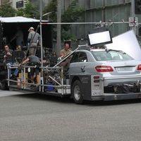George Clooney shooting a Mercedes-Benz commercial (pics) 2011 Merced21