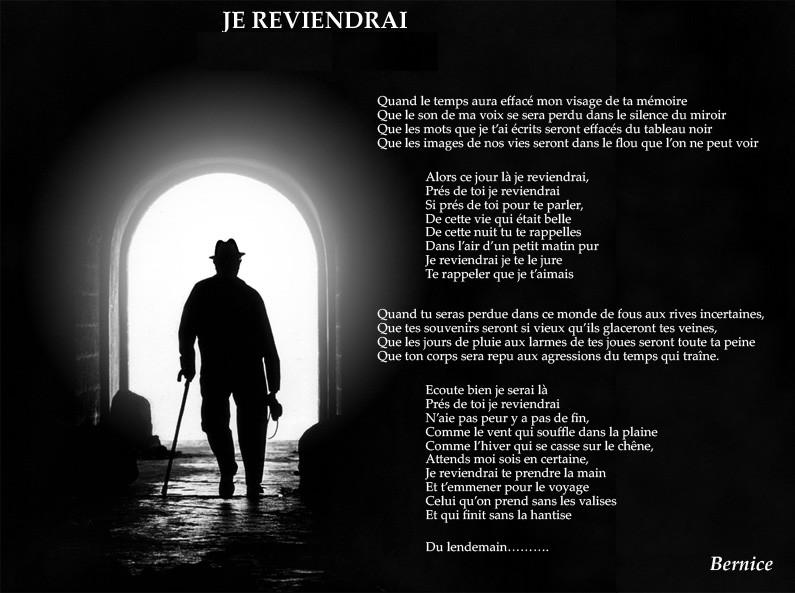 Je reviendrais Poeme110