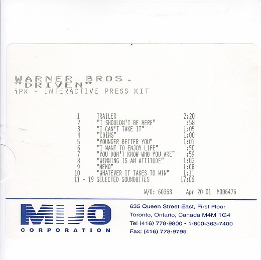 CD - (collection slystallone) - Page 3 Driven10
