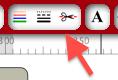 insérer du texte sur une page d'étiquettes Captur80