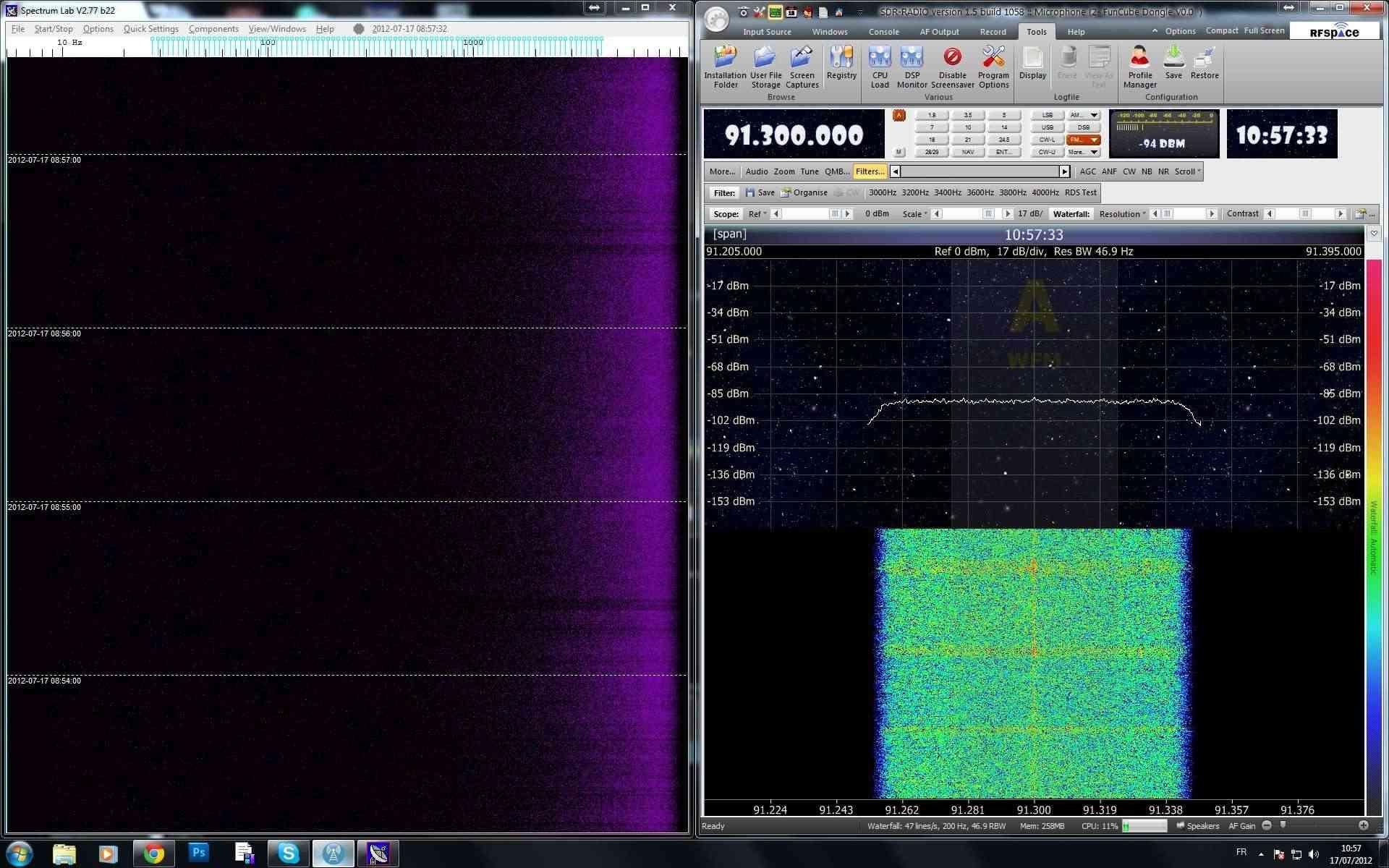Detection des météores Radiom10