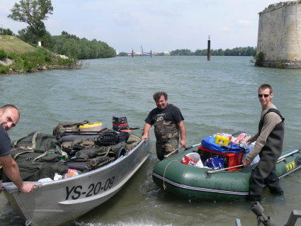 Pêche 100% sauvage sur le grand Rhône, Depart10