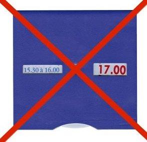 Disque de stationnement : un nouveau modèle depuis le 1er janvier 2012 Ancien10