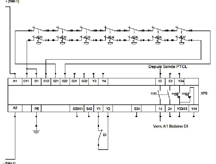 Ligne d'arrêt d'urgence + relais de sécu Pr_for10
