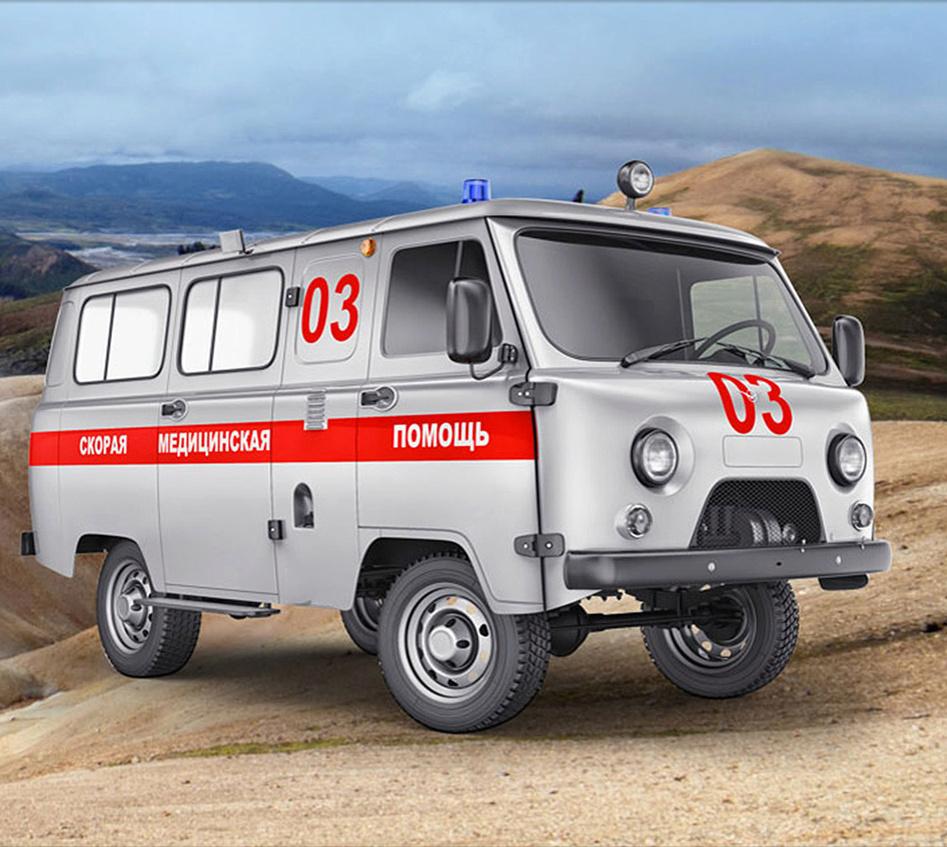 Ambulance UAZ 452, Tatarsk, Russie Uaz10