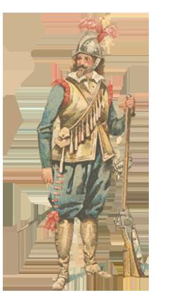 Mousquetaire, début Guerre de Trente Ans Pourpo12