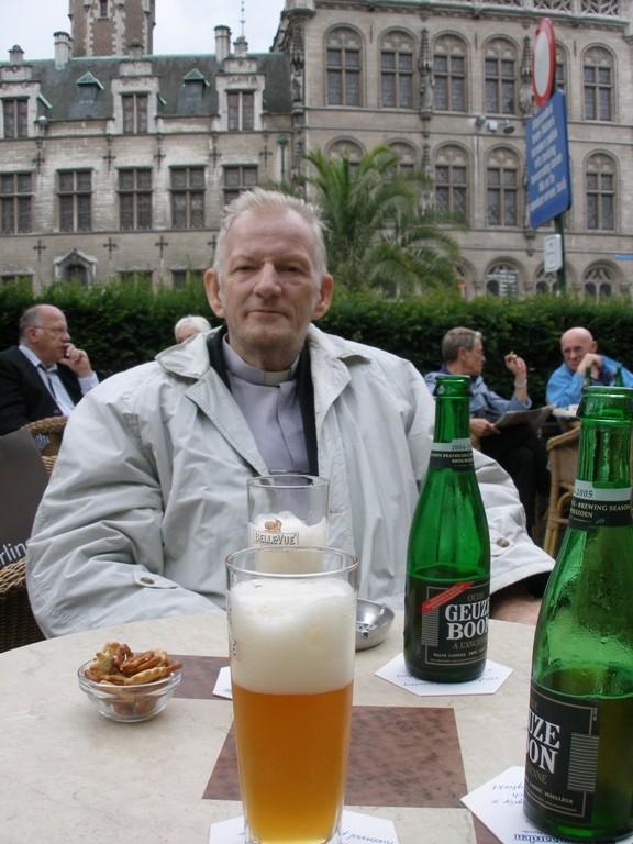 El Padre Jorge en Lovaina, Bélgica, el 11 de julio 2008