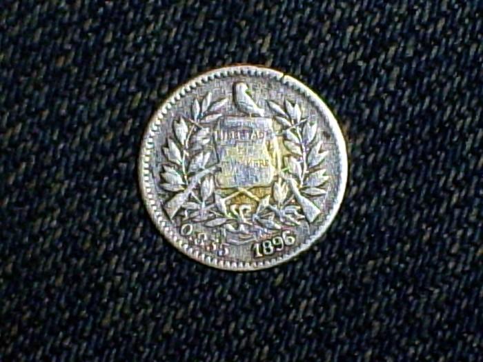 Guatemala, 1/2 real, 1896 Medior13