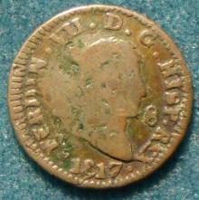 8 Maravedíes de Fernando VII (Jubia, 1817) [WM n° 7247, 7248, 7273, 7274] 252_a10