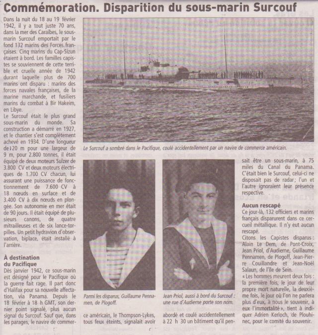 [ Divers - Les classiques ] LE CROISEUR SOUS-MARIN SURCOUF - Page 3 Top-5811