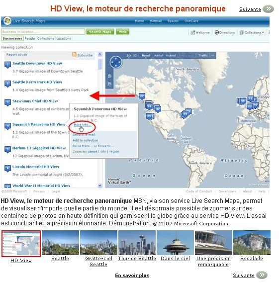 Le service concurrent de GE : Microsoft Virtual Earth Hd_vie10