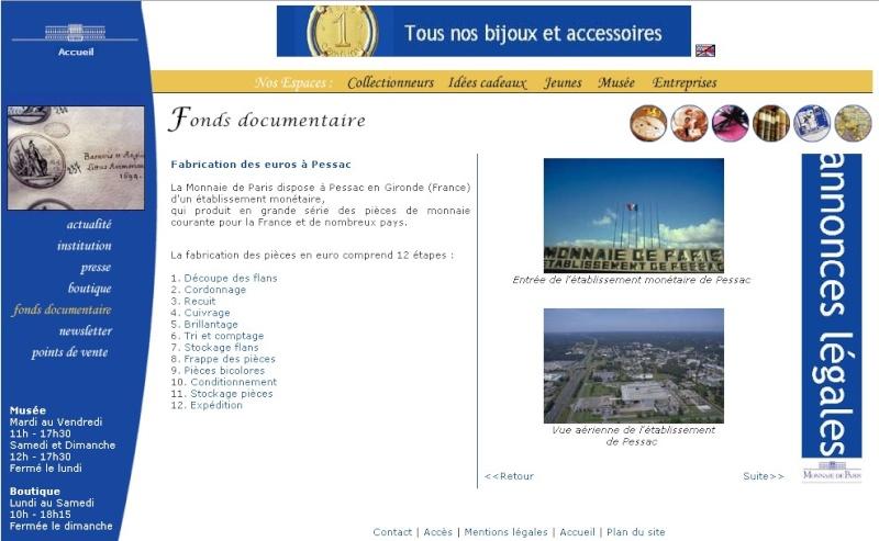 Usine de Fabrication des Euros - Pessac - Dual Maps Monnai11