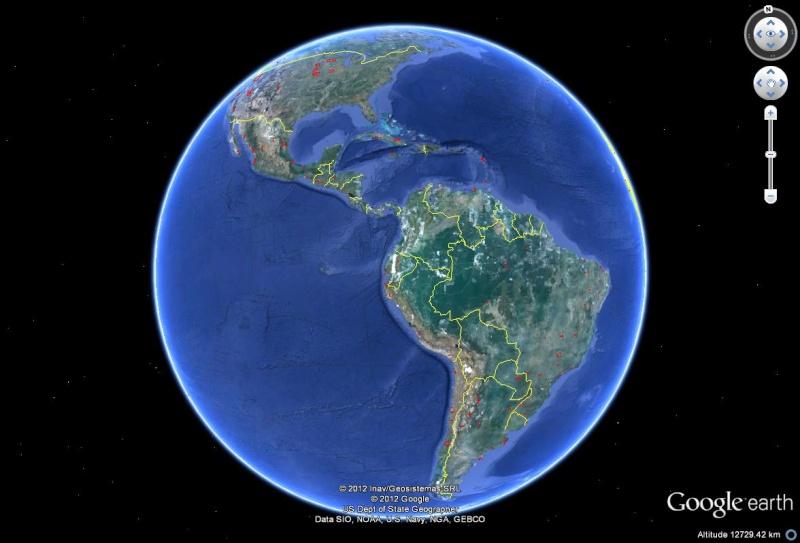 Mises à jour des photos aériennes et des images satellites. Sans1042