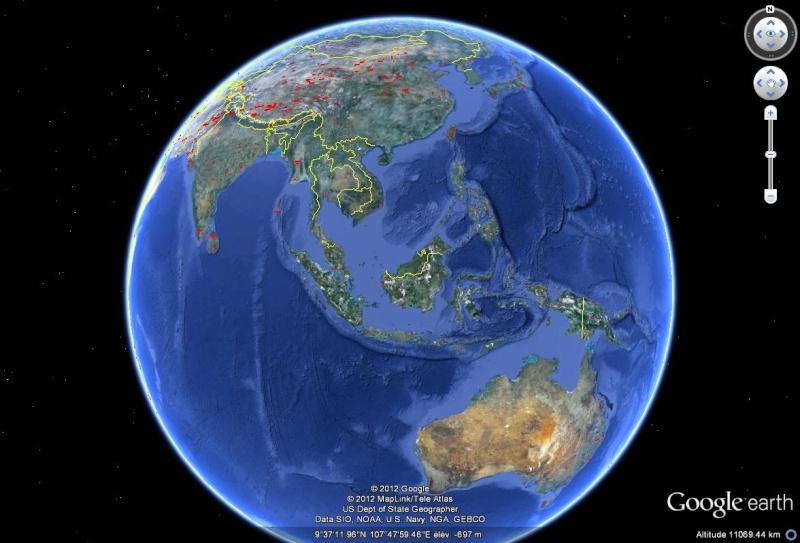 Mises à jour des photos aériennes et des images satellites. Sans1043