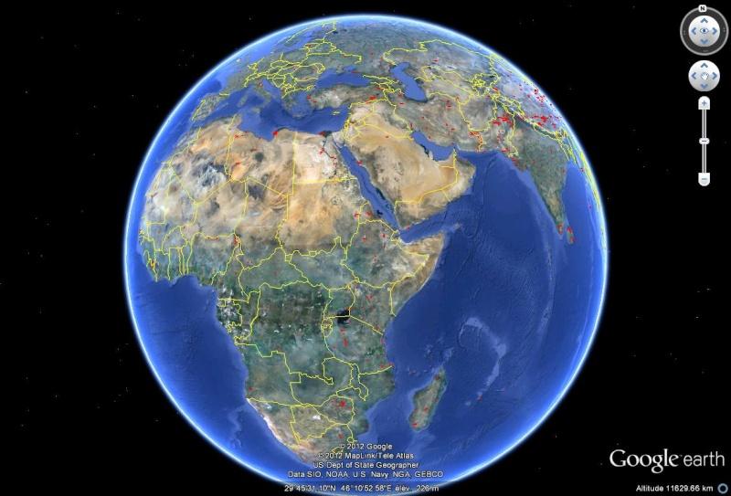 Mises à jour des photos aériennes et des images satellites. Sans1044