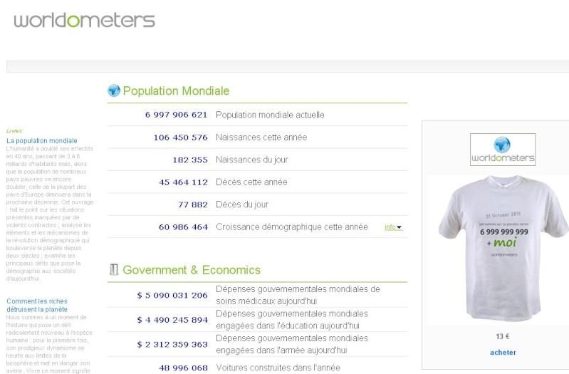 STATISTIQUES MONDIALES EN TEMPS REEL ... avec Worldometers.info ! Sans_246