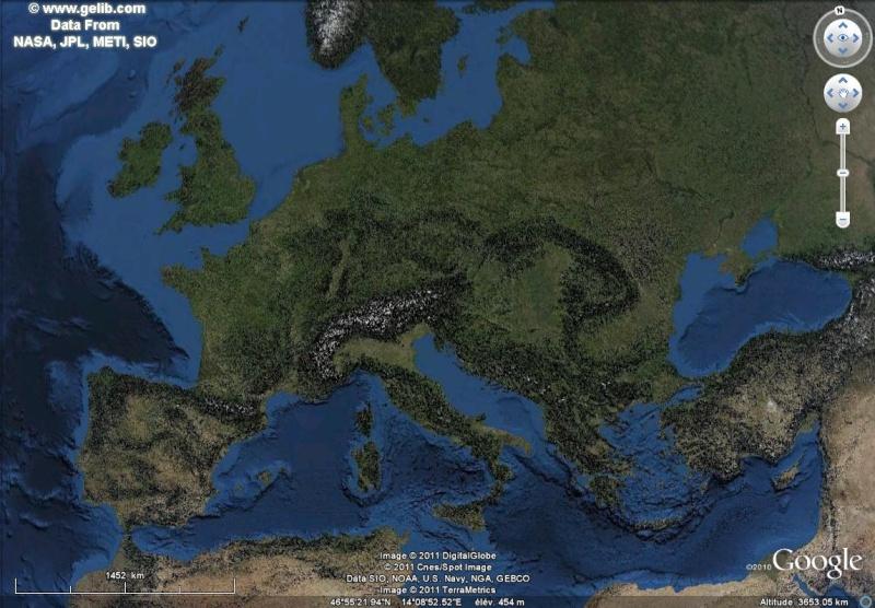 Overlay Global Terrain Map sur GE Sans_t48