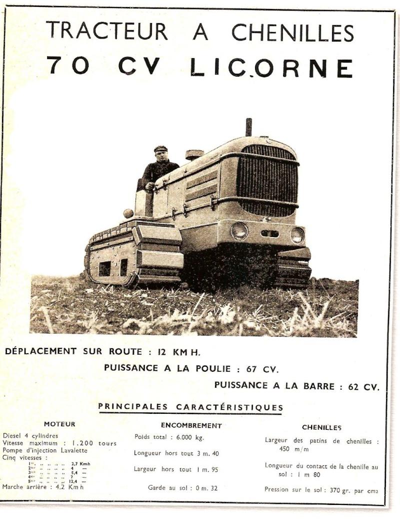 publicités du tracteur LICORNE Licorn43