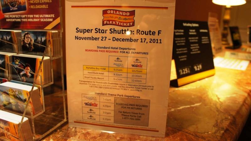 Navettes Hard Rock Cafe Hotel jusqu'à... Super-10