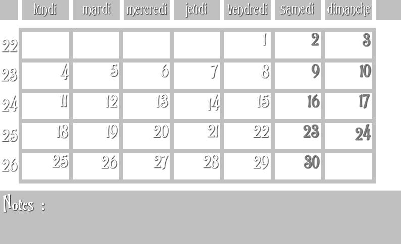 Masques calendrier -  12 mois 2012 06_sem10