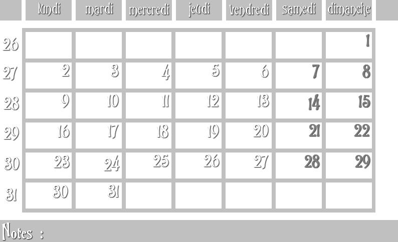 Masques calendrier -  12 mois 2012 07_sem10