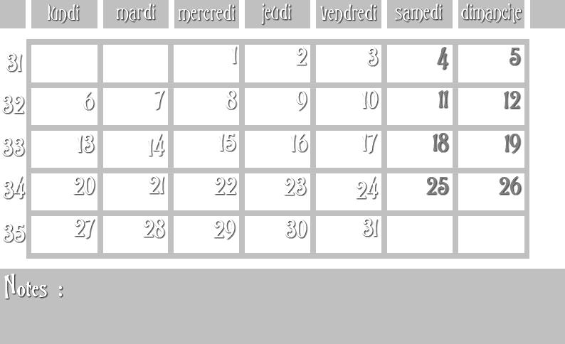 Masques calendrier -  12 mois 2012 08_sem10