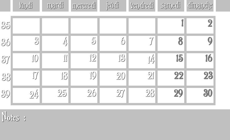 Masques calendrier -  12 mois 2012 09_sem10