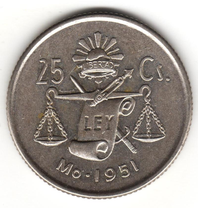 25 Centavos. Mexico. 1951 1951_210