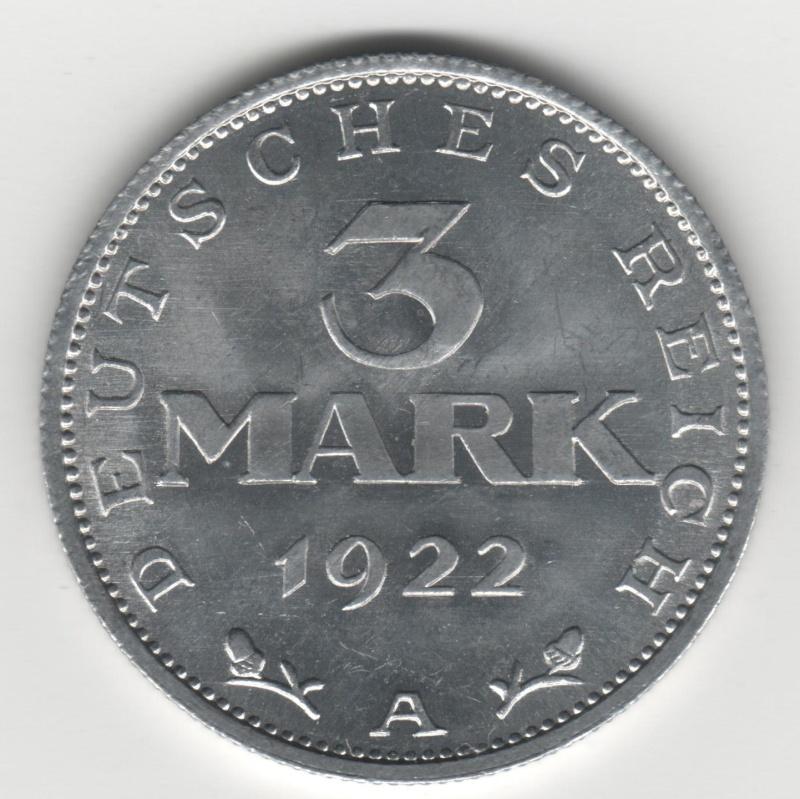 3 Mark. Alemania. 1922. Berlín 300210