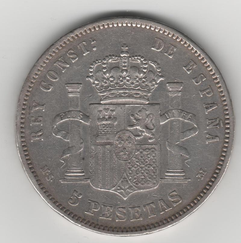 5 Pesetas 1881. MSM. Alfonso XII 355_210
