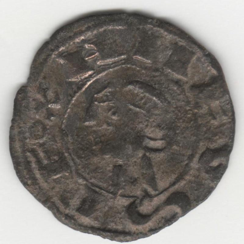 Dinero de Alfonso VIII (Toledo, 1212-1214). Estrellas de 6 puntas con aro interior. 40_110