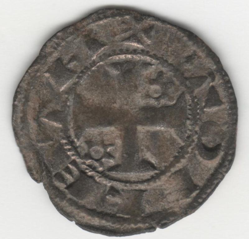 Dinero de Alfonso VIII (Toledo, 1212-1214). Estrellas de 6 puntas con aro interior. 40_210