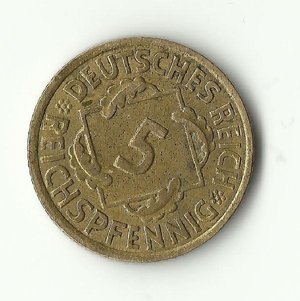 5 Reichspfenning. Alemania. 1936. Berlín Escane10