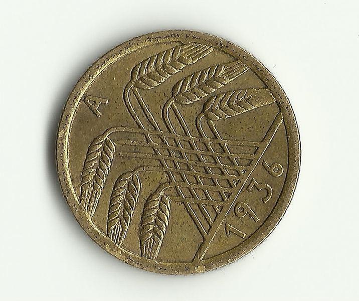 5 Reichspfenning. Alemania. 1936. Berlín Escane11