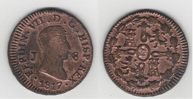 8 Maravedíes de Fernando VII (Jubia, 1817) [WM n° 7247, 7248, 7273, 7274] Hytfr310