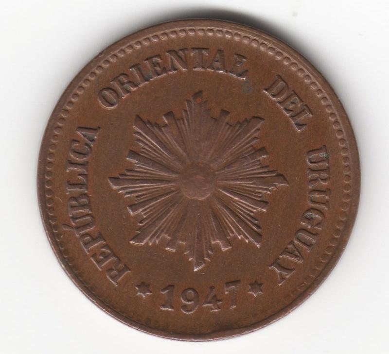 2 Centésimos. República Oriental del Uruguay. 1947. Santiago de Chile Img20210