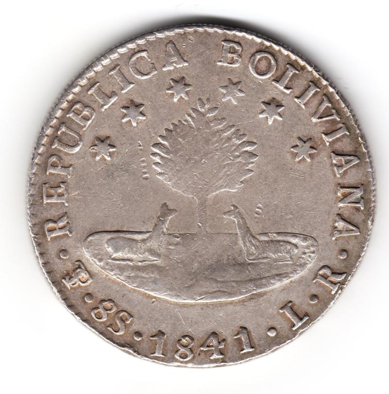 8 Soles. Bolivia. 1841. Potosi Img88310
