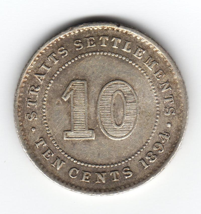 10 Cents. Establecimientos de los Estrechos. 1894. Londres Img88710