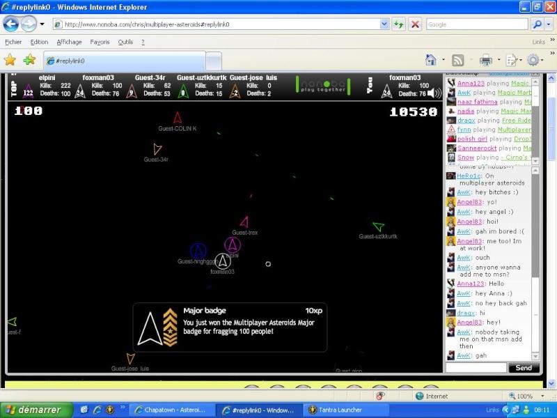 Asteroids Multiplayer le jeu et ses amis ! 100_ki10