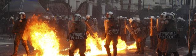 Importantes disturbios en Grecia 13290711